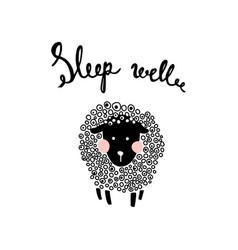 Fluffy sheep vector