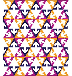 Geometric creative continuous multicolored pattern vector
