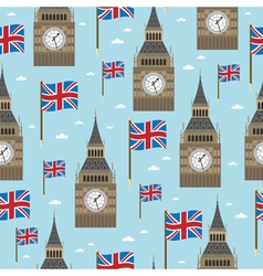 great britain pattern vector image vector image