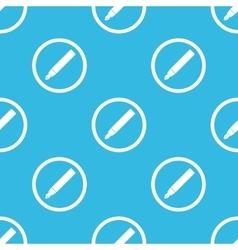 Ink pen sign blue pattern vector
