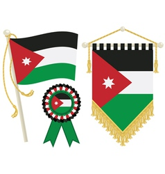 jordan flags vector image