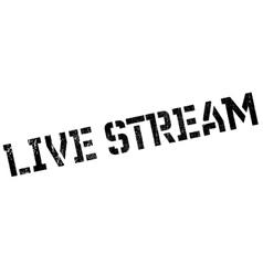 Live stream stamp vector