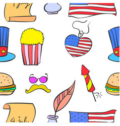 Meamorial day colorful of doodles vector