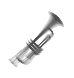musical instrument trumpet sign gray icon vector image vector image