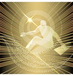 Net surfer vector image vector image