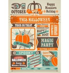 News newspaper festive halloween vector