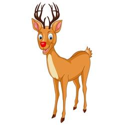Santa Rudolph Reindeer vector image vector image