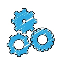 simple gears icon image vector image