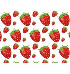 Strawberries pattern vector