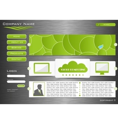 Web site design vector image