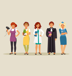 women professions 3 vector image vector image