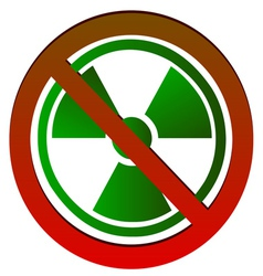 No radioactive symbol vector