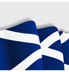 Scottish waving flag vector