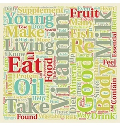 How toxins in our diet can affect our health text vector