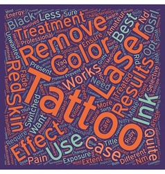 Do you want your tattoo removed the laser way text vector