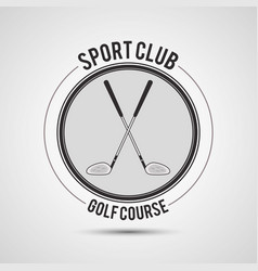Sport club golf course clubs vector