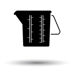 Measure glass icon vector