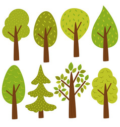 Set of isolated trees vector
