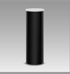 Black chips tin box container tube on background vector