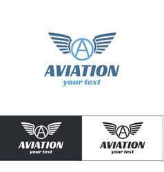 Aviation logo design four vector