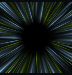 Blue and green dark glowing abstract beams vector