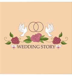 Wedding labels logo vector