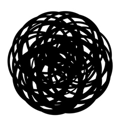 Abstract coiled wire icon shape on white vector