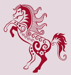 Horse ornament vector image