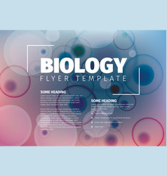 Abstract biology flyer template vector