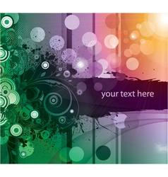 abstract floral background with rays vector image vector image