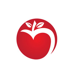 apple logo icon vector image vector image