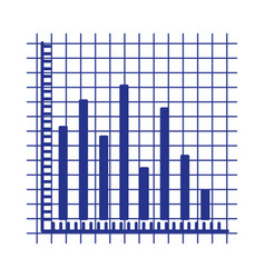 blue silhouette of statistic graphic bars vector image vector image
