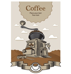 Coffee castle vector