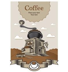 coffee castle vector image