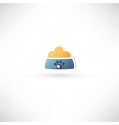Dog bowl icon vector