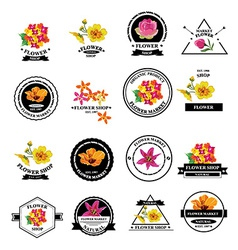 Flower shop icons vector