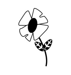 flower with plant leaves icon image vector image vector image