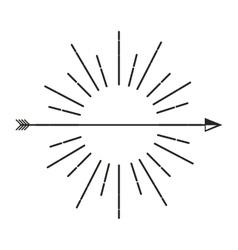 Frame retro with arrows vector