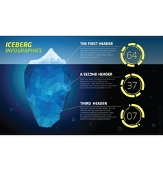 Iceberg infographics Ice and water sea vector image vector image