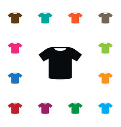 isolated top icon polo element can be used vector image