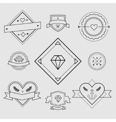 Logo design elements Vintage retro style Arrows vector image vector image