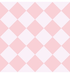 Pink white chess board diamond background vector