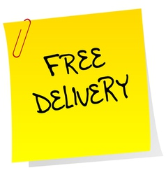 Post it with free delivery advertising vector