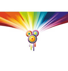 rainbow party banner vector image vector image
