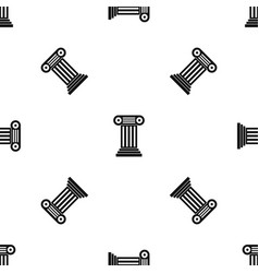 roman column pattern seamless black vector image