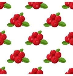 Seamless pattern cartoon cranberries with vector
