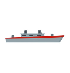 ship military icon flat style vector image