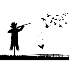 Shotgun scarecrow vector image vector image
