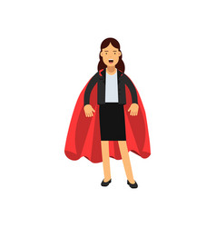 successful business woman dressed in classic vector image