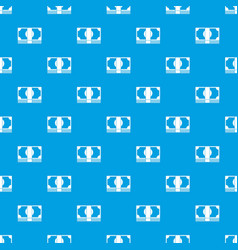 Swiss franc banknote pattern seamless blue vector